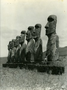 Portrait Easter Island Rapa Nui Orongo Old Maziere Photo 1960