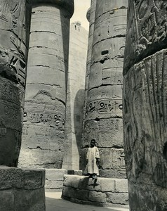 Karnak Temple Portrait Faouzi the small Egyptian old Photo Darbois 1965