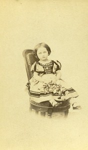 Children Costume Fashion Lyon France Old CDV Photo Fatalot ca 1870