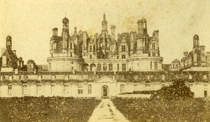 Castle Chambord France Old CDV Photo Anonymous ca 1870