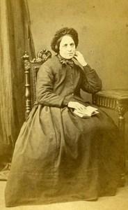 Woman Costume Fashion Toulouse France Old CDV Photo Benazech 1870