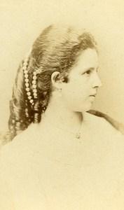 Woman Costume Fashion Pest Austria Old CDV Photo Calderoni 1870