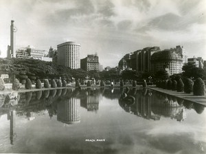 Praca Paris Rio de Janeiro Brazil Old Photo 1935