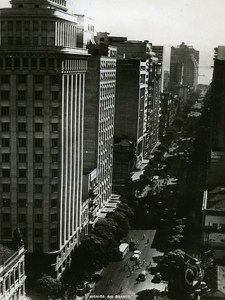 Avenida Rio Branco Rio de Janeiro Brazil Old Photo 1935