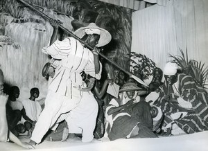 Abidjan Ivory Coast Theater Festival Banfora Troup Winner Old Photo 1955