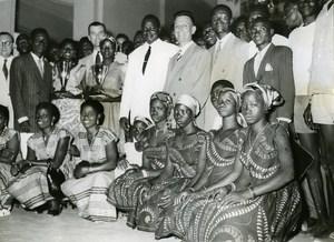 Abidjan Ivory Coast Theater Festival Banfora Troup Winner Old Photo 1955