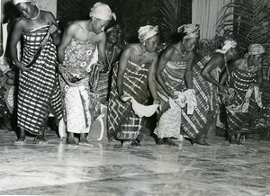 CCFCI Abidjan Ivory Coast Theater Festival Dance Troup Old Photo 1956