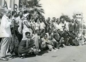 Africa Senegal Dakar Airport Senegalese Theater Troup Old Photo 1956
