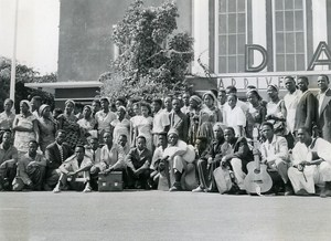 Africa Senegal Dakar Airport Senegalese Theater Troup Old Photo 1956