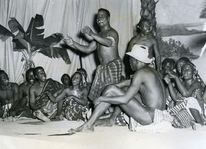 Africa Senegal Dakar Festival Ivory Coast Theater Troup Old Photo 1956