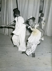 Africa Senegal Dakar Festival Nigerian Theater Troup Old Photo 1956