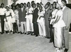Senegal Dakar Receipt of Theatrical Finalists Ivory Coast & Niger Old Photo 1956