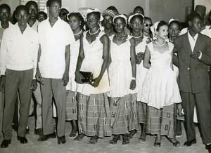 Senegal Dakar Receipt of Theatrical Finalists Ivory Coast & Niger Old Photo 1956