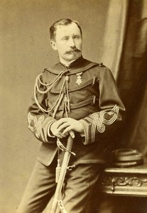Colonel Alberic d Entraigues Lyon France Old Photo CC Lumiere ca 1870