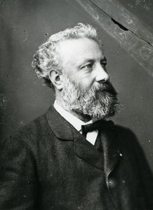 Writer Jules Verne Paris France Photo Nadar Later Print 1975
