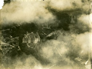 WWI Pierrefonds Castle General View France Old Aerial Photo 1917