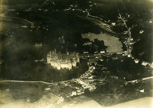 WWI Pierrefonds Castle Panorama France Old Photo 1917