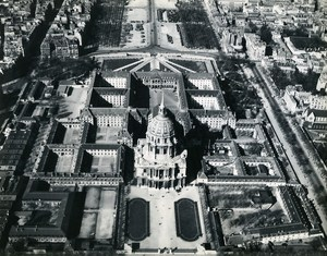 Paris Hôtel National des Invalides France Old Aerial Photo ca 1945