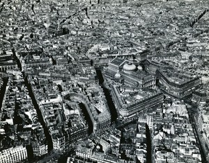 Paris Opera Area Panorama France Old Aerial Photo 1945