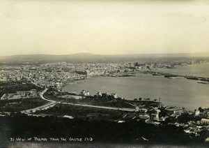 Spain View of Palma from the Castle Old Photo 1930