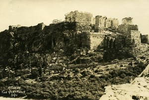 Greece Athens Acropolis Works General View Old Photo 1930