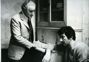 Italian Actors Luigi Proietti & Mario Scaccia Cinema News Photo 1980
