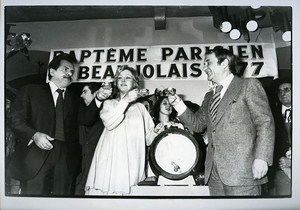 M Galabru J Carmet & MaMrie Dubois Wine Festival Beaujolais News Photo 1980