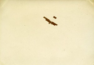 Early Aviation Farman Plane Le Mans France Old Snapshot Photo 1911