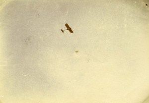 Early Aviation Monoplan Bleriot Le Mans France Old Snapshot Photo 1911