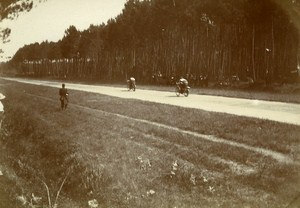 Circuit de la Sarthe Race Motorcycle Le Mans France Old Snapshot Photo 1913