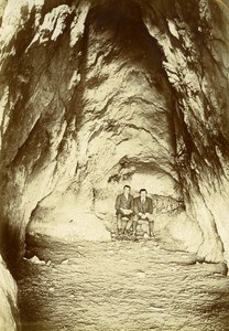 Saulges Grotto Interior France Old Snapshot Photo 1911