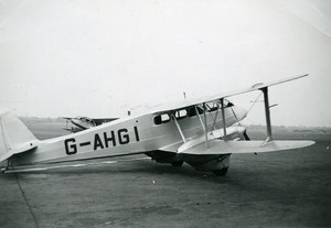 Kenilworth Flying Schools De Havilland Plane Old Snapshot 1949