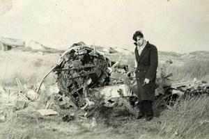 United Kingdom Lancaster Frazer Nash Plane Destroyed Old Snapshot 1949