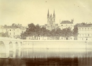 Cathedral Angers France Old Snapshot Photo Sabatier 1903