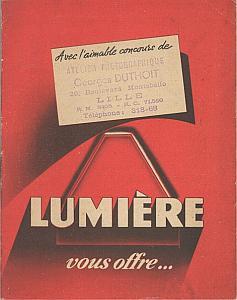 Catalogue Lumière 1949 par Société Lumière