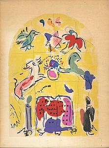 Vitraux pour Jérusalem - Catalogue de l'exposition au Musée des Arts Décoratifs en 1961 par Chagall - Izis