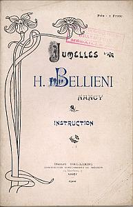 Jumelles H. Bellieni, Nancy - Instructions par Bellieni, H.