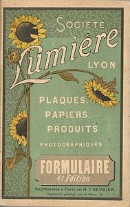Plaques, Papiers, Produits Photographiques - Formulaire par Société Lumière