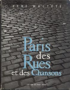 Paris des Rues et des Chansons par Maltête, rené