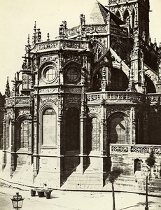 Apse Saint Pierre Church Caen France Old Photo Bisson 1858