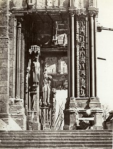 Chartres Cathedrale South Porch France Old Photo Bisson 1858