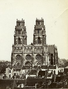 Orleans Cathedral Towers France Old Photo Bisson 1858