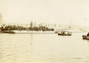 Military Conquest Madagascar Return of General Duchesne Marseille Old Photo 1895