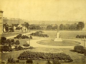 Ireland Eire Dublin Leinster Lawn & Merrion Square Old Photo W.L. 1875