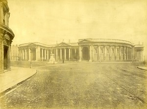 Ireland Eire Dublin National Bank Old Albumen Photo W L 1875