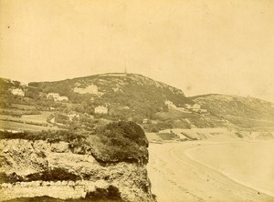 Ireland Eire Dublin Killiney Bay Old Albumen Photo 1875