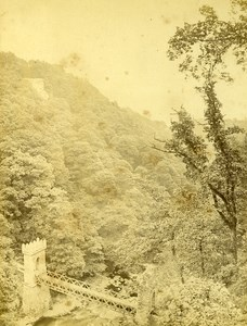 Ireland Eire South Lover's Leap Old Albumen Photo 1875