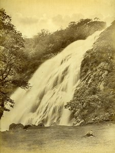 Ireland Eire Wiclow Powerscourt Waterfall Old Albumen Photo 1875