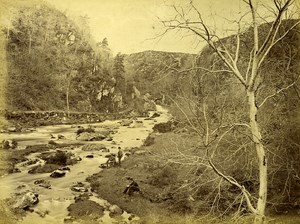 Ireland Eire Wiclow Vale of Avoca Avonmore River Old Albumen Photo 1875
