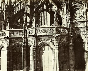 France Caen Apse of Saint Pierre Church Detail Old Photo Bisson 1857